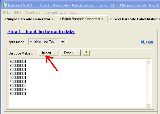 Make barcodes in excel